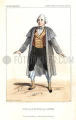 Opera singer Henri as Bolbaya in La Sirene  1844.