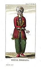 Persian woman in city dress.