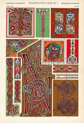Medieval illuminated manuscripts.
