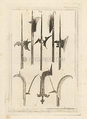 Sword-blade halberd  brown bill  axe  etc.