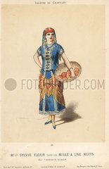 Sylvie Flour in Mille & Une Nuits at the Theatre du Chatelet  1881.