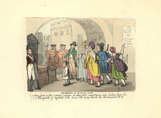 Gentleman escorting country cousins on their first trip to London.