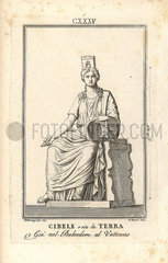 Statue of Cybele or Terra Mater  Roman goddess of the earth.