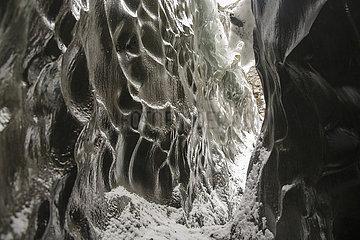 Gletschereis des Vatnajoekull Gletschers