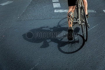 FEA Radfahrer Verkehr Tattoo