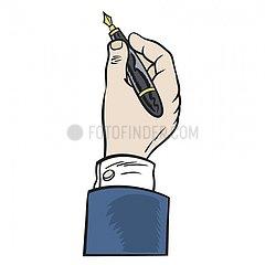 Serie Pictogramme - Hand unterschreibt Serie Pictogramme - Hand unterschreibt