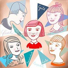 Portraits von Freundinnen und ihren Beziehungen zueinander Portraits von Freundinnen und ihren Beziehungen zueinander