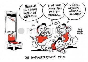 Neue SPD-Fuehrung : Trio kandidiert nicht fuer Parteivorsitz Neue SPD-Fuehrung : Trio kandidiert nicht fuer Parteivorsitz