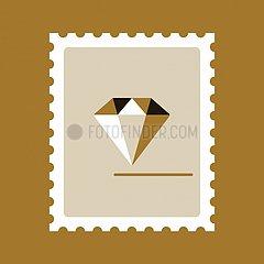 Briefmarke Diamant Serie Briefmarke Diamant Serie