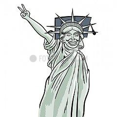 Liberty Victory-Zeichen Liberty Victory-Zeichen
