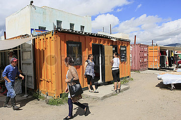 Markt in Tsetserleg Mongolei Kamel in der Nationalpark Altai Tawan Bogd in der Mongolei