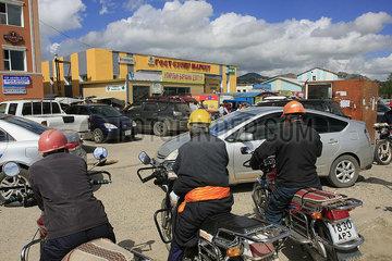 Taxifahrer in Tsetserleg  Mongolei Kamel in der Nationalpark Altai Tawan Bogd in der Mongolei
