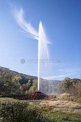 Andernach Geyser  a cold-water geyser on Namedy Peninsula; Germany