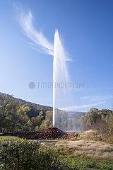 Andernach Geyser  a cold-water geyser on Namedy Peninsula; Germany