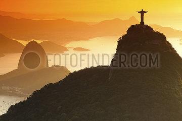 Christ the Redeemer and Sugar Loaf Rio de Janeiro