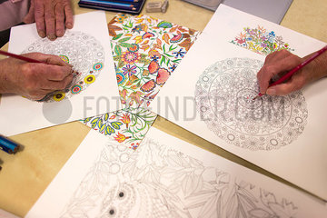 coloring book for adults is a new hype in Europe