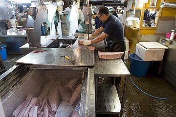 fish market in Tsukiji  Tokyo