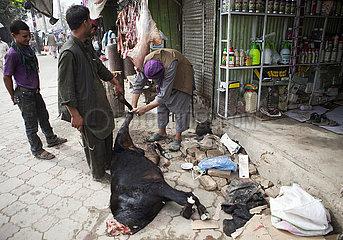 Bazaar in downtown Kabul  Afghanistan