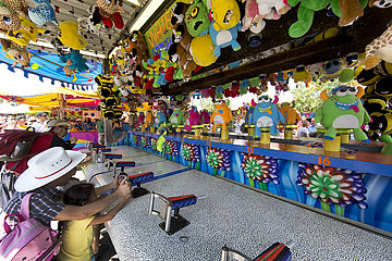 fairground of the stampede in Canada