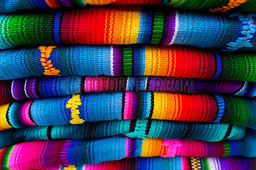 Traditional handwoven mayan textile