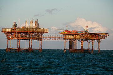 oil rig in the North sea