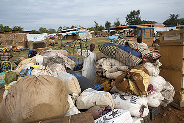 Displaced muslims have taken refuge in a school in CAR