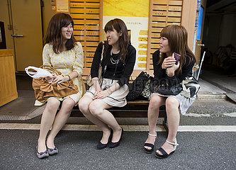 Japanese girls in Tokyo
