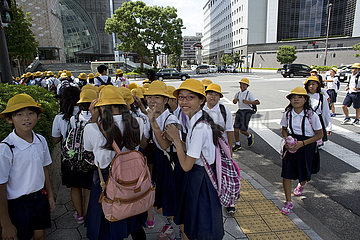 school girls in Japan