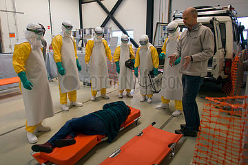 EBOLA training centre of MSF in Amsterdam