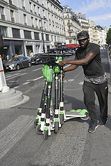 FRANCE- PARIS - ELECTRIC SCOOTER