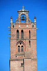 France  Haute Garonne  Toulouse  la Cath?drale Saint Etienne  le clocher du cardinal Jean dOrl?ans (XVI? si?cle)