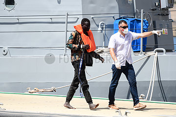 MALTA-FLORIANA-RESCUED MIGRANTS