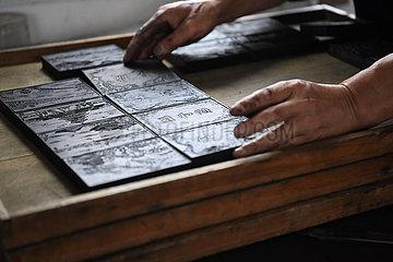 CHINA-ANHUI-traditionellen handgemachten Ölruß INK (CN)
