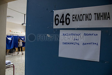 GREECE-ATHENS-PARLIAMENTARY ELECTIONS-VOTE