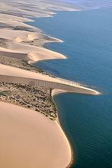 NAMIBIA  NAMIB DESERT  SEAFRONT  WALVIS BAY