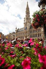 Das Rathaus der belgischen Hauptstadt Bruessel