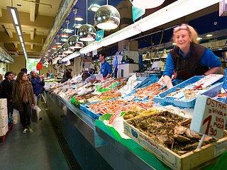 Die Fischhalle in Mercat de l'Olivar