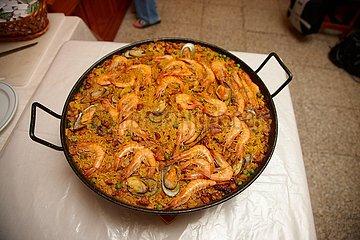 Traditionelle spanische Paella
