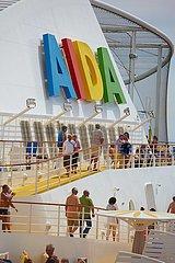 AIDA Logo  Mittelmeer