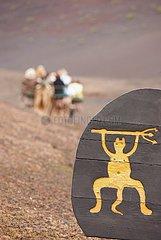 Schild mit Teufel im Timanfaya Nationalpark