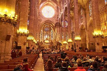 Innenaufnahme der Kathedrale La Seu Palma de Mallorca
