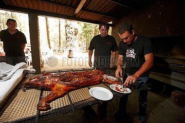 Grillplatz in Spanien