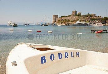 'Ein Boot mit der Aufschrift ''Bodrum'''