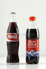 Cola  Marken- und Billigprodukt
