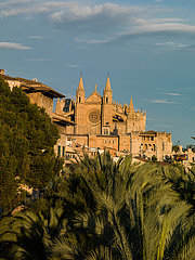 'Blick auf die Kathedrale von Palma de Mallorca ''la seu'''
