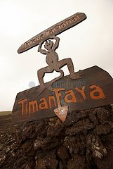 Wegweiser im Timanfaya Nationalpark