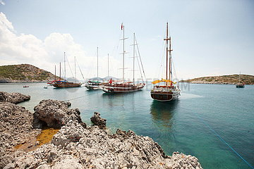 Schiffe vor Bodrum