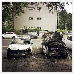 Brandanschlag auf Autos in Berlin-Mitte