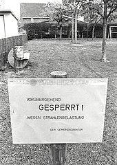 Wegen Tschernobyl-Fallout gesperrter Spielplatz
