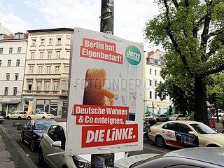 Linken-Plakat fuer Enteignung